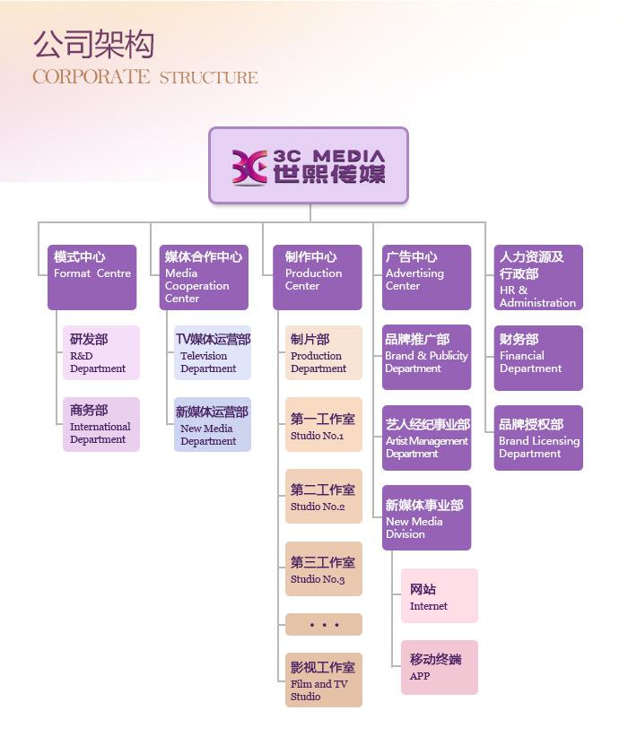 传媒公司结构框架图